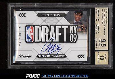 2009 Prestige NBA Draft Class Stephen Curry ROOKIE RC AUTO BGS 95 GEM MT PWCC