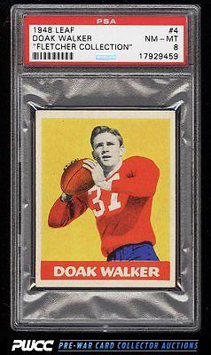 1948 Leaf Football Doak Walker ROOKIE RC 4 PSA 8 NMMT PWCC
