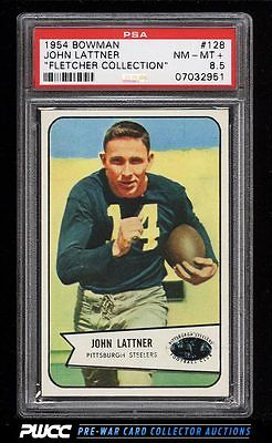 1954 Bowman Football John Lattner ROOKIE RC 128 PSA 85 NMMT PWCC