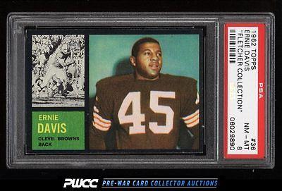 1962 Topps Football Ernie Davis ROOKIE RC 36 PSA 8 NMMT PWCC