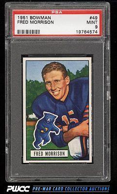 1951 Bowman Football Fred Morrison 49 PSA 9 MINT PWCC