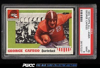 1955 Topps AllAmerican George Cafego 8 PSA 9 MINT PWCC
