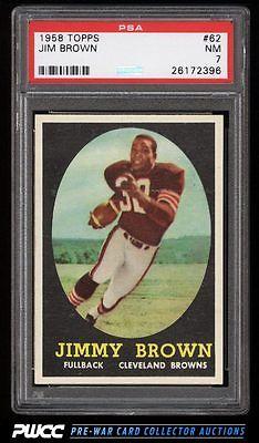 1958 Topps Football Jim Brown ROOKIE RC 62 PSA 7 NRMT PWCC