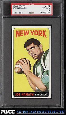 1965 Topps Football Joe Namath SP ROOKIE RC 122 PSA 4 VGEX PWCC