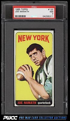 1965 Topps Football SETBREAK Joe Namath SP ROOKIE RC 122 PSA 7 NRMT PWCC
