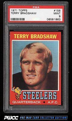 1971 Topps Football Terry Bradshaw ROOKIE RC 156 PSA 9 MINT PWCC