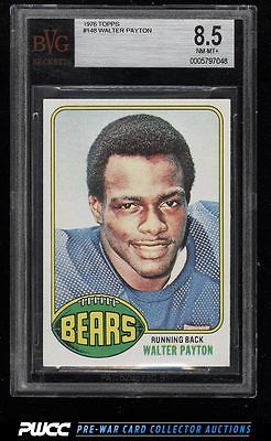 1976 Topps Football Walter Payton ROOKIE RC 148 BVG 85 NMMT PWCC