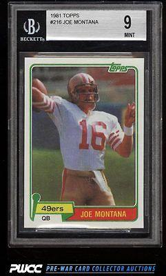 1981 Topps Football Joe Montana ROOKIE RC 216 BGS 9 MINT PWCC