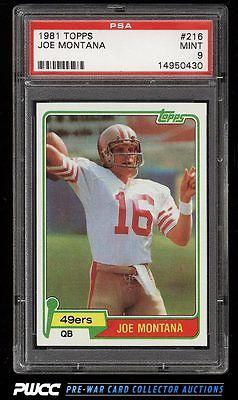 1981 Topps Football Joe Montana ROOKIE RC 216 PSA 9 MINT PWCC