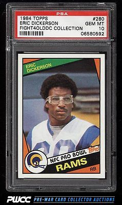 1984 Topps Football Eric Dickerson ROOKIE RC 280 PSA 10 GEM MINT PWCC