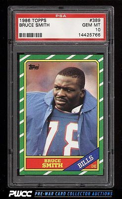 1986 Topps Football Bruce Smith ROOKIE RC 389 PSA 10 GEM MINT PWCC