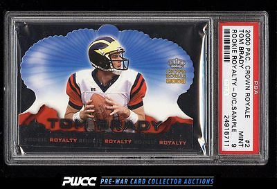 2000 Pacific Crown Royale Rookie Royalty Sample Tom Brady RC 2 PSA 9 MT PWCC