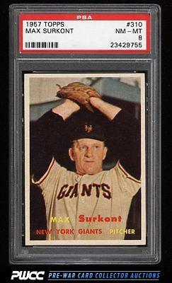 1957 Topps SETBREAK Max Surkont 310 PSA 8 NMMT PWCC