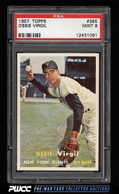 1957 Topps SETBREAK Ossie Virgil 365 PSA 9 MINT PWCC