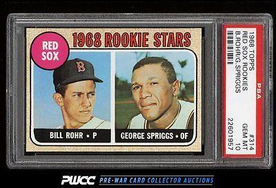 1968 Topps SETBREAK Red Sox Rookies 314 PSA 10 GEM MINT PWCC