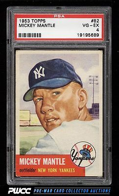 1953 Topps Mickey Mantle SHORT PRINT 82 PSA 4 VGEX PWCC