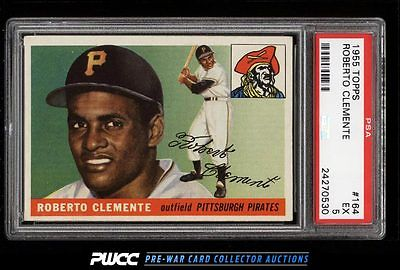 1955 Topps Roberto Clemente ROOKIE RC 164 PSA 5 EX PWCC