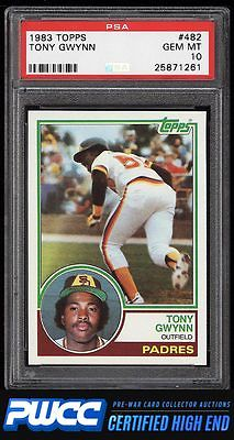 1983 Topps Tony Gwynn ROOKIE RC 482 PSA 10 GEM MINT PWCCHE