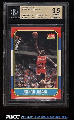 1986 Fleer Basketball Michael Jordan ROOKIE RC 57 BGS 95 GEM MINT PWCC