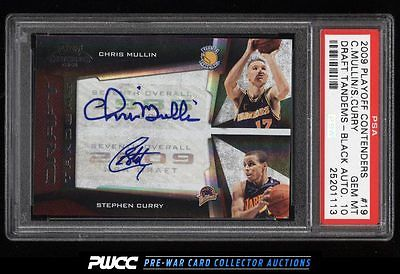 2009 Playoff Contenders Black Mullin Stephen Curry ROOKIE AUTO 10 PSA 10 PWCC