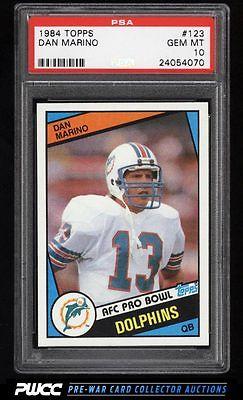 1984 Topps Football Dan Marino ROOKIE RC 123 PSA 10 GEM MINT PWCC