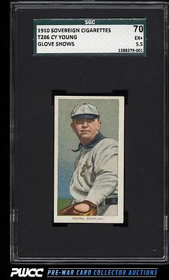 190911 T206 Cy Young CLEVELAND GLOVE SHOWS SOVEREIGN SGC 5570 EX PWCC