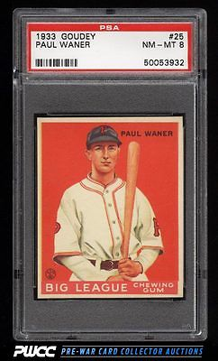 1933 Goudey Paul Waner 25 PSA 8 NMMT PWCC