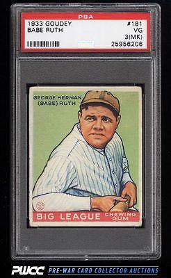 1933 Goudey Babe Ruth 181 PSA 3mk VG PWCC