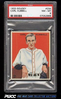 1933 Goudey Carl Hubbell 234 PSA 8 NMMT PWCC