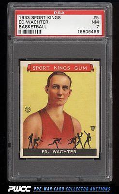 1933 Goudey Sport Kings Ed Wachter BASKETBALL 5 PSA 7 NRMT PWCC