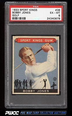 1933 Goudey Sport Kings Bobby Jones GOLF 38 PSA 6 EXMT PWCC