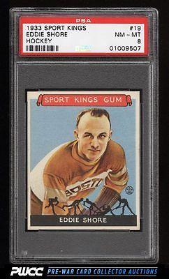 1933 Goudey Sport Kings SETBREAK Eddie Shore HOCKEY 19 PSA 8 NMMT PWCC