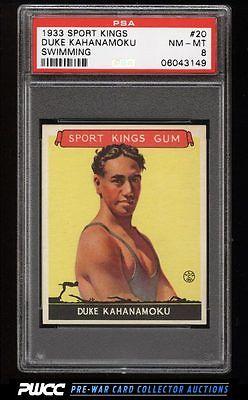 1933 Goudey Sport Kings SETBREAK Duke Kahanamoku SWIMMING 20 PSA 8 NMMT PWCC