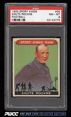 1933 Goudey Sport Kings SETBREAK Knute Rockne FOOTBALL 35 PSA 8 NMMT PWCC