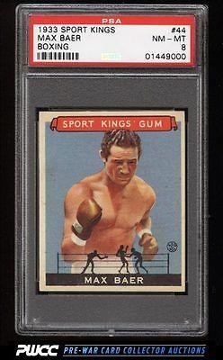 1933 Goudey Sport Kings SETBREAK Max Baer BOXING 44 PSA 8 NMMT PWCC