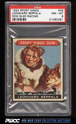 1933 Goudey Sport Kings SETBREAK Leonhard Seppala SLED RACING 48 PSA 8 PWCC