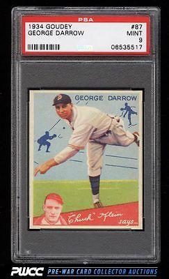 1934 Goudey SETBREAK George Darrow 87 PSA 9 MINT PWCC