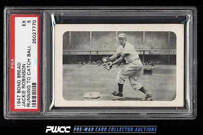1947 Bond Bread Jackie Robinson ROOKIE RC RUNNING TO CATCH BALL PSA 5 EX PWCC