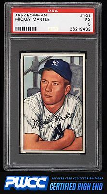 1952 Bowman Mickey Mantle 101 PSA 5 EX PWCCHE