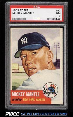 1953 Topps Mickey Mantle SHORT PRINT 82 PSA 7 NRMT PWCC