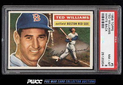 1956 Topps Ted Williams WHITE BACK 5 PSA 8 NMMT PWCC