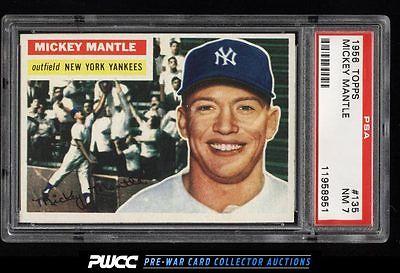 1956 Topps Mickey Mantle 135 PSA 7 NRMT PWCC
