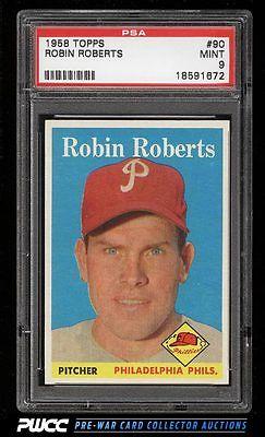 1958 Topps Robin Roberts 90 PSA 9 MINT PWCC