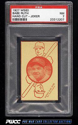 1927 W560 Strip Card Babe Ruth JOKER PSA 7 NRMT PWCC