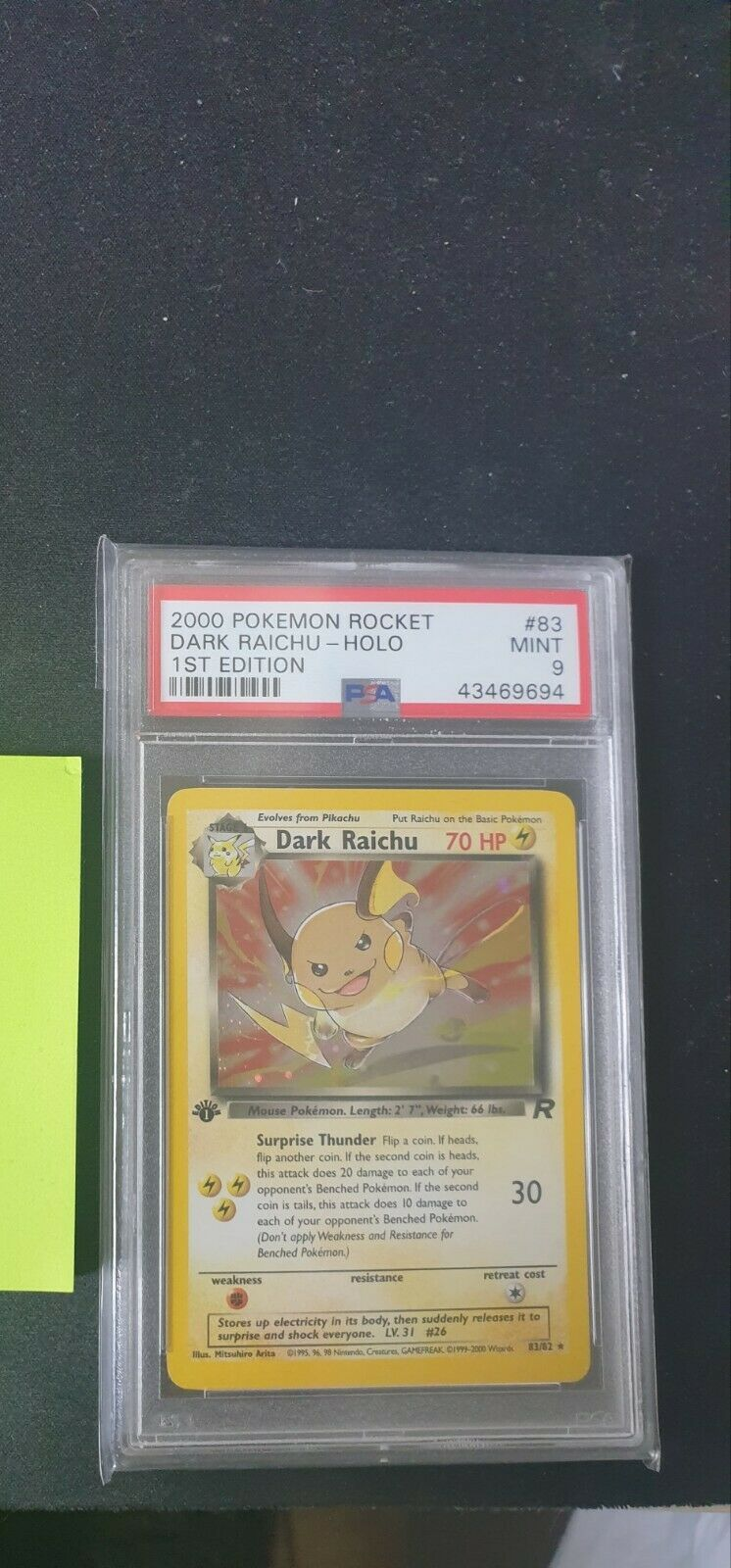 Pokemon Dark Raichu Holo PSA 9 1st edition