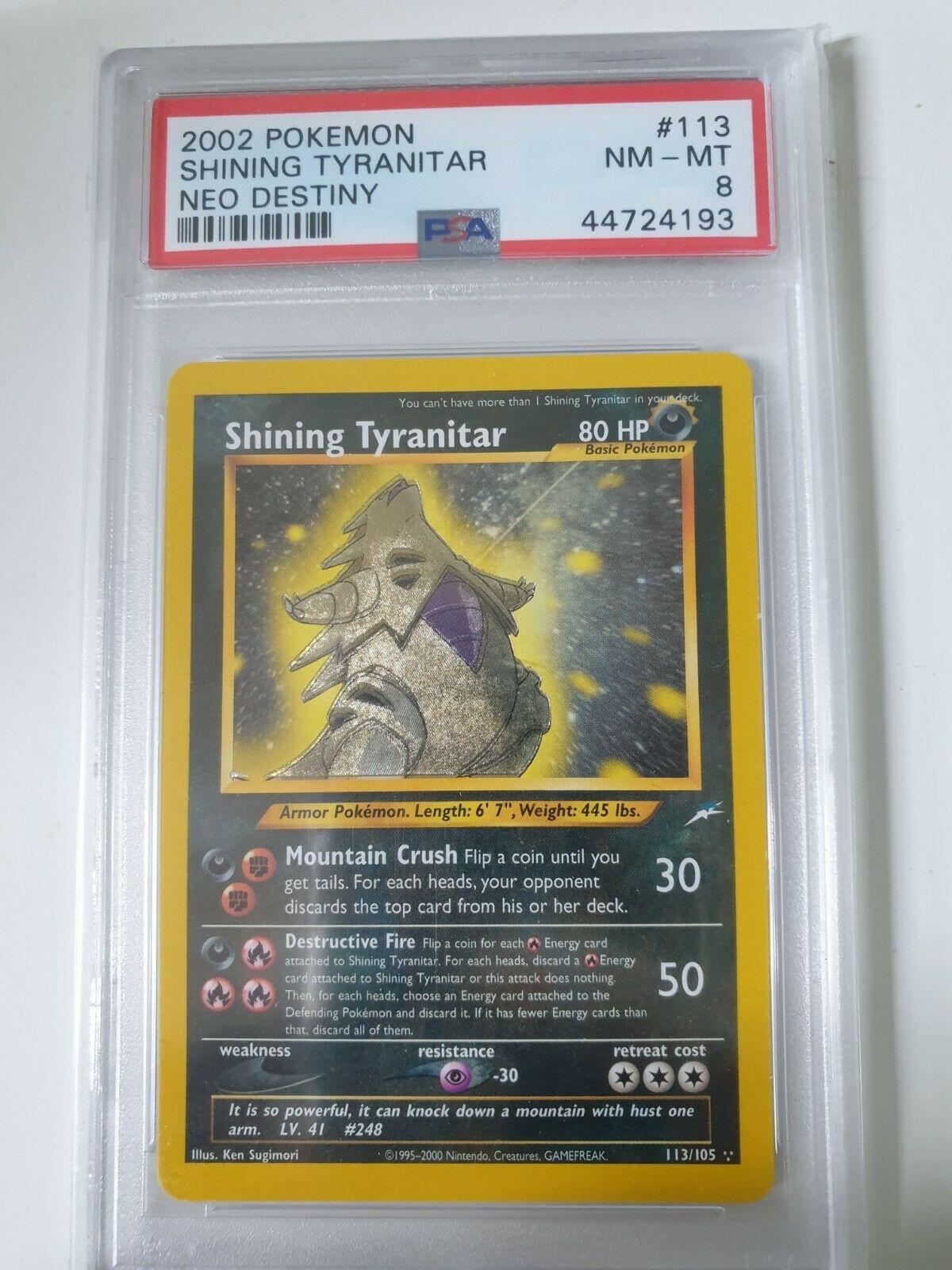 Pokemon Shining Tyranitar PSA 8