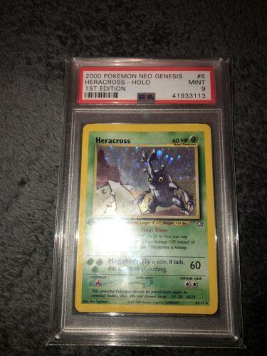 PSA 9 Neo Genesis Heracross 1st Edition Holo Rare Pokemon Card 6111