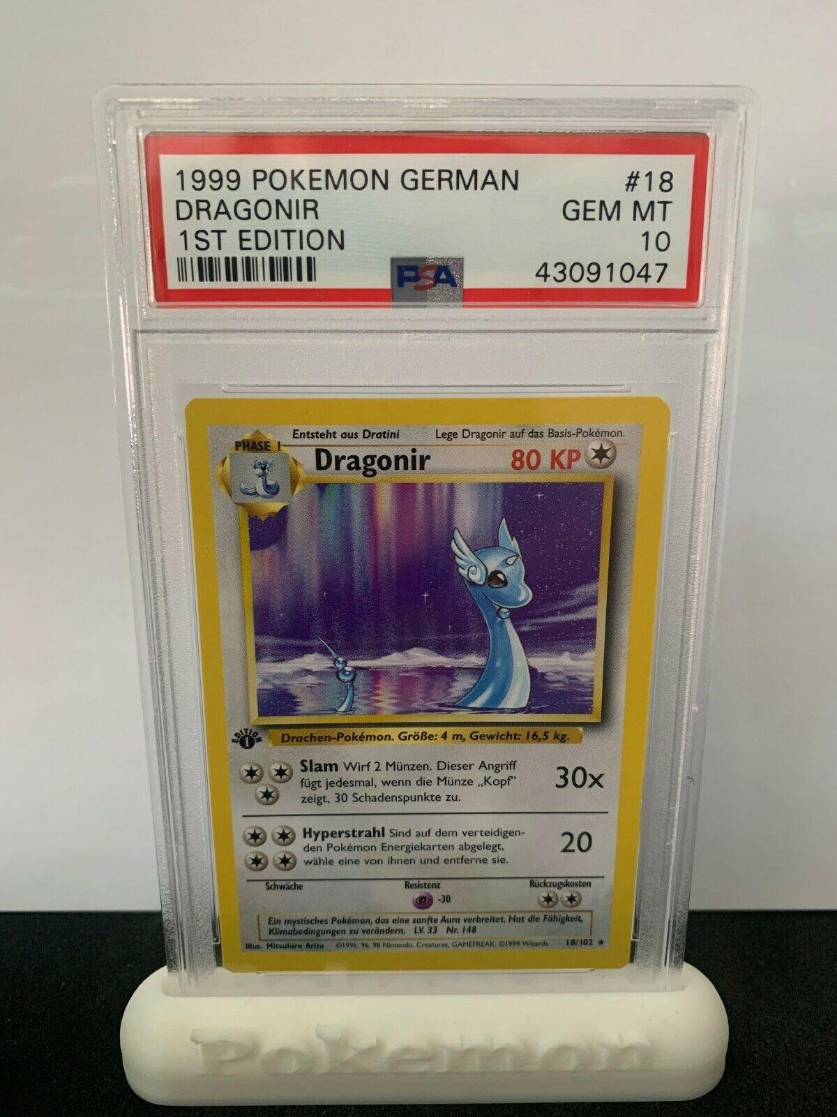 Pokemon PSA 10 German  Deutsch Dragonir 1 Edition Mint non Holo Rare 18
