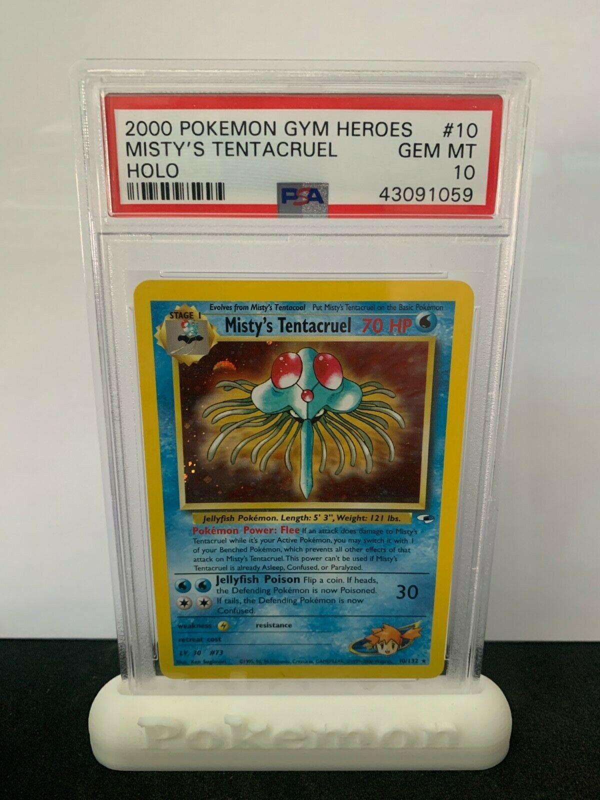 Pokemon PSA 10 Gym Heroes Mistys Tentacruel Holo Rare Mint 10