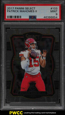 2017 Select Football Patrick Mahomes II ROOKIE RC 103 PSA 9 MINT